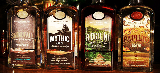 Four Bottles Of Craft Spirits From Appalachian Gap Distillery