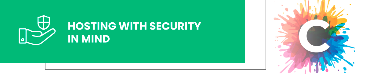 create.com hosting with security in mind