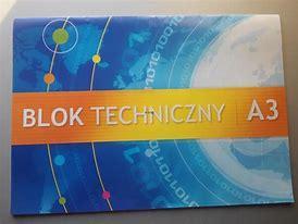 Obraz znaleziony dla: blok techniczny A3 kartki biale