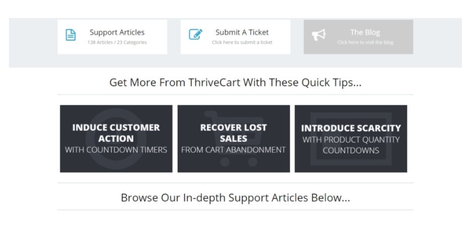 Thrivecart vs Samcart Support
