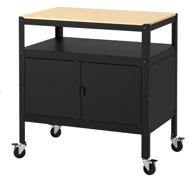 black  kitchen Cart for kitchens