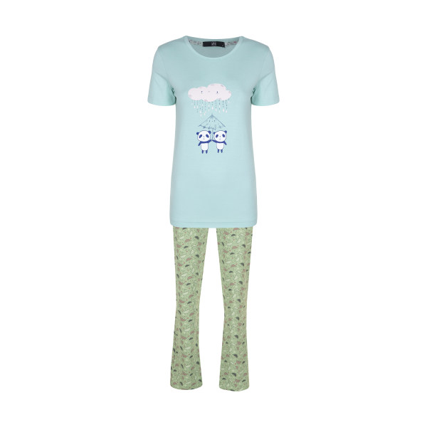 ست تی شرت و شلوار زنانه جامه پوش آرا مدل 4032019032-43