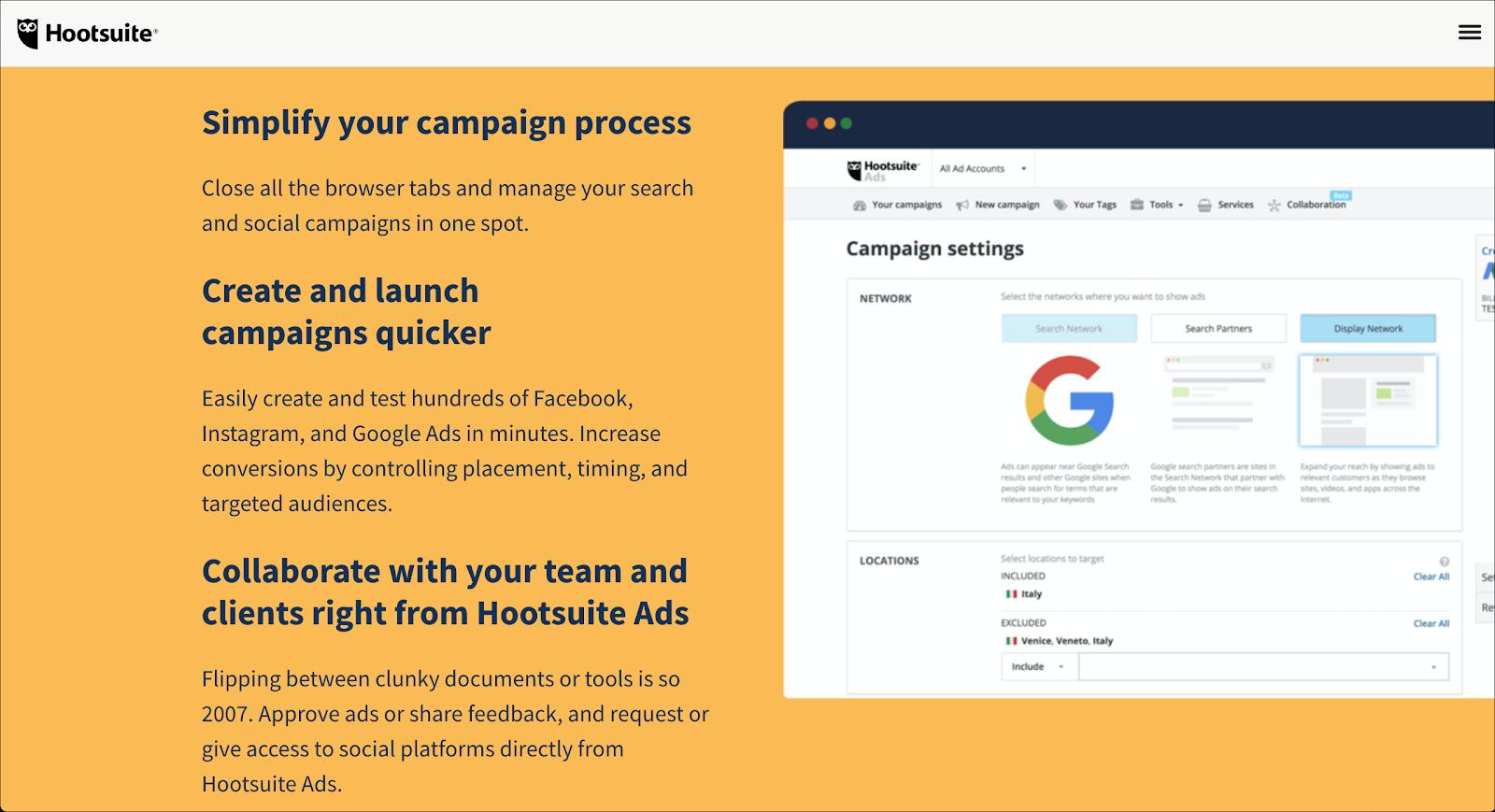 Hootsuite Social Media Ads Tools