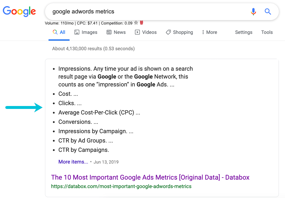 What are featured snippets? This is how they appear in Google search results.