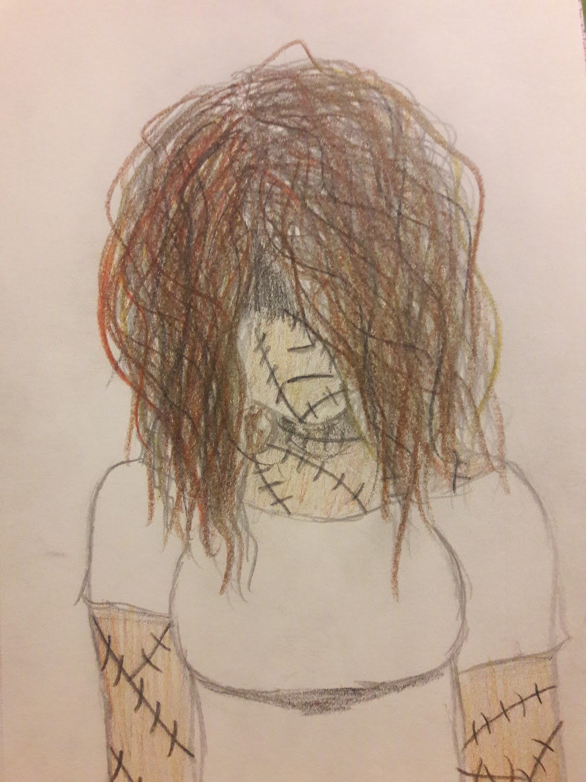 woman with scars and messy hair