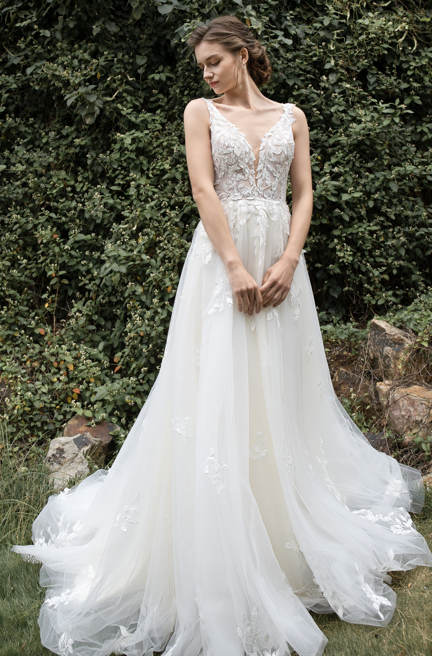 A-line wedding dress from cocomelody