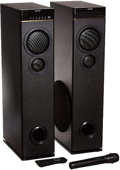 Philips SPA9080B Multimedia Tower Floor Standing Speakers