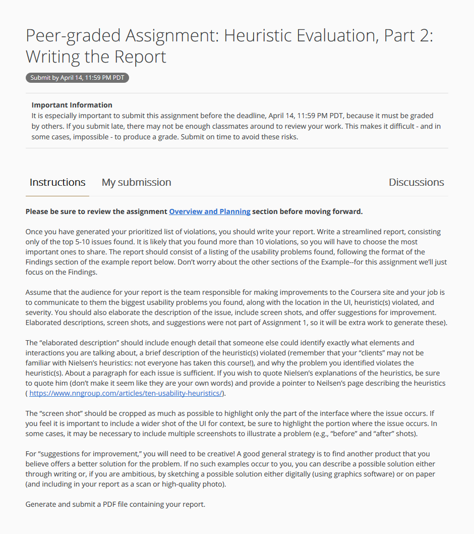 Heuristic Evaluation of Coursera Discussion Forum