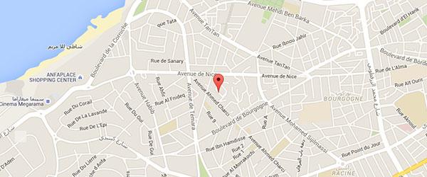 29 rue n°2 Lotissement Avenir Quartier Manar Casa Anfa Casablanca MAROC