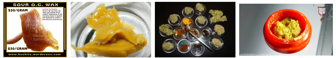 kinds of butane hash oil extracts
