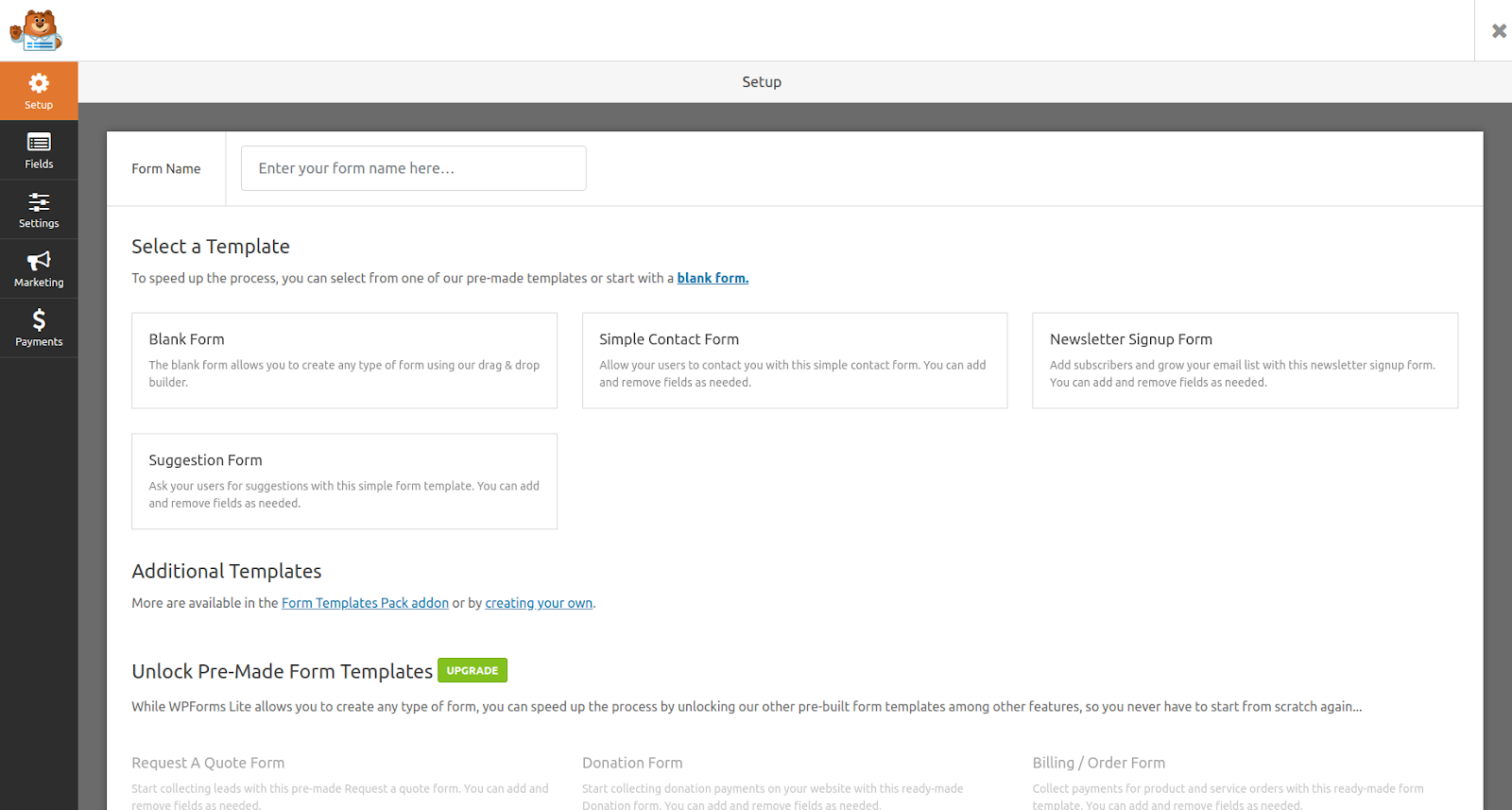 wpforms wordpress form plugin features