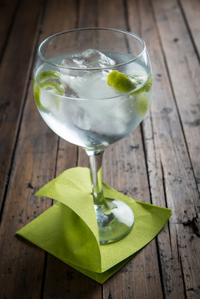 Non-alcoholic Designated Drivers Club Soda and Lime