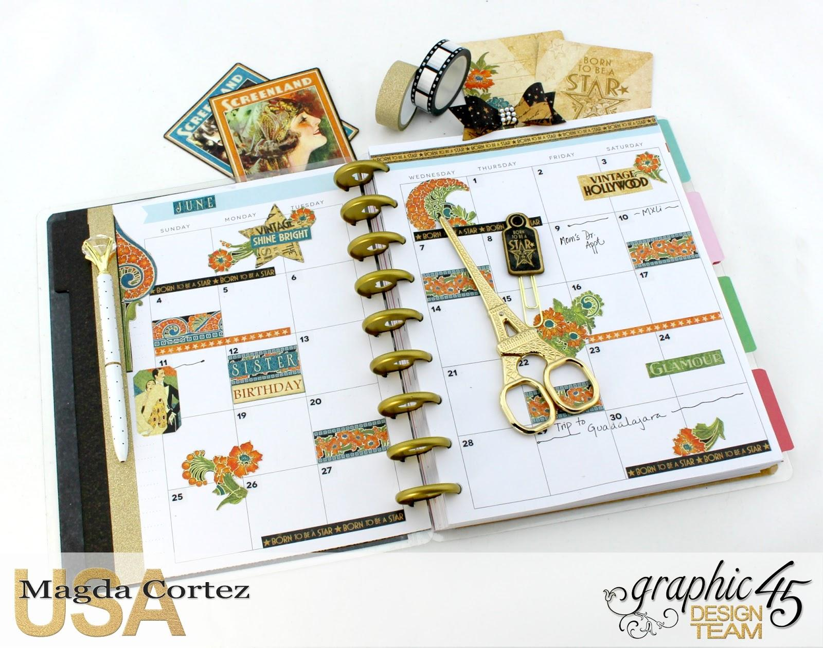 My G45 Planner 2017- Vintage Hollywood- By Magda Cortez- Product of Graphic 45- Photo 05 of 09- with Tutorial.jpg