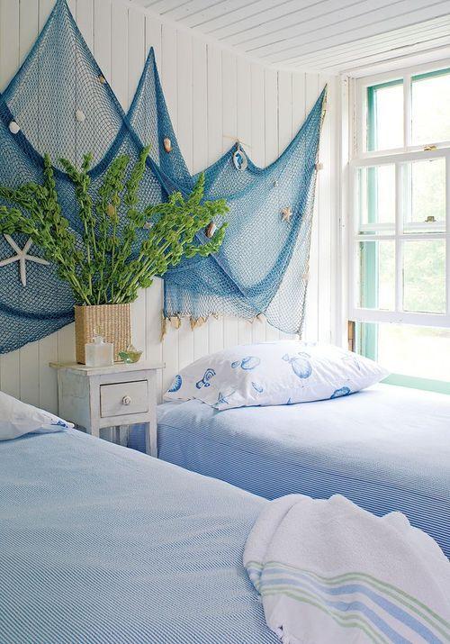 Fishnets Beach Themed Bedroom Ideas