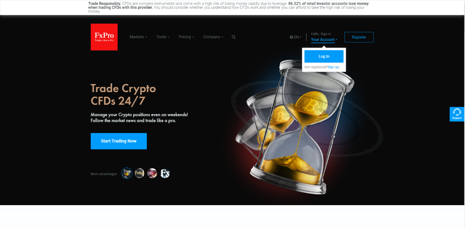FxPro Home Page