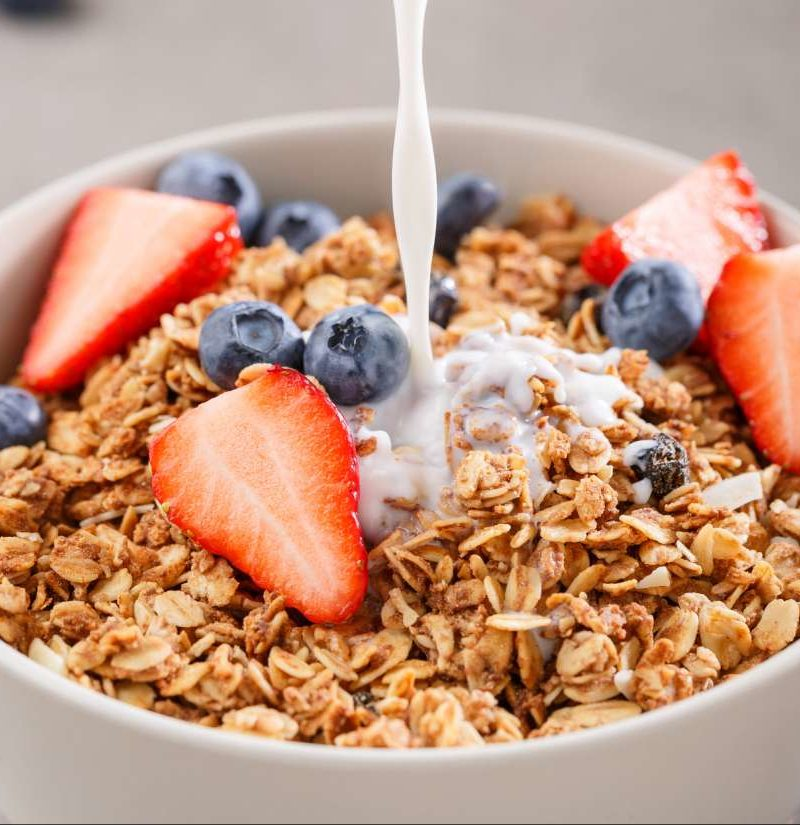 Fortified cereals contain high doses of essential vitamins and minerals.