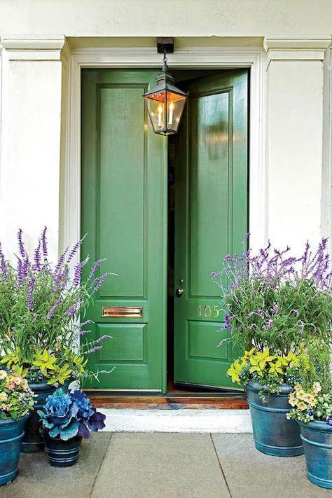 porta da frente verde