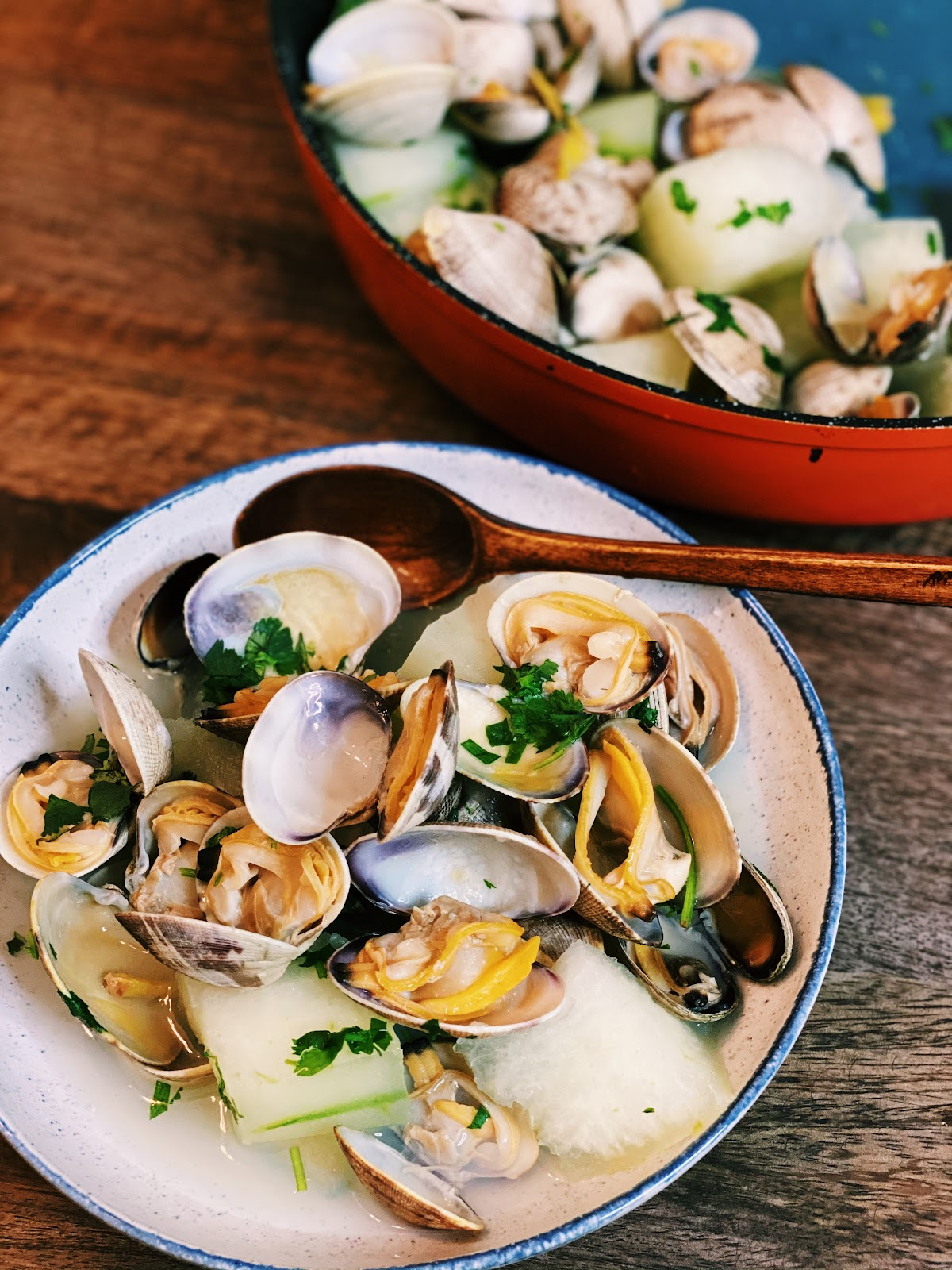 Steamed Clams and Winter Melon