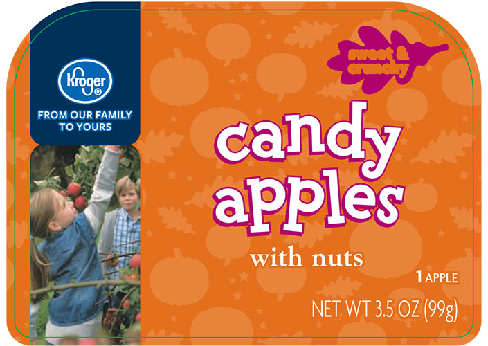 Kroger, Candy Apples with nuts 3.5 oz