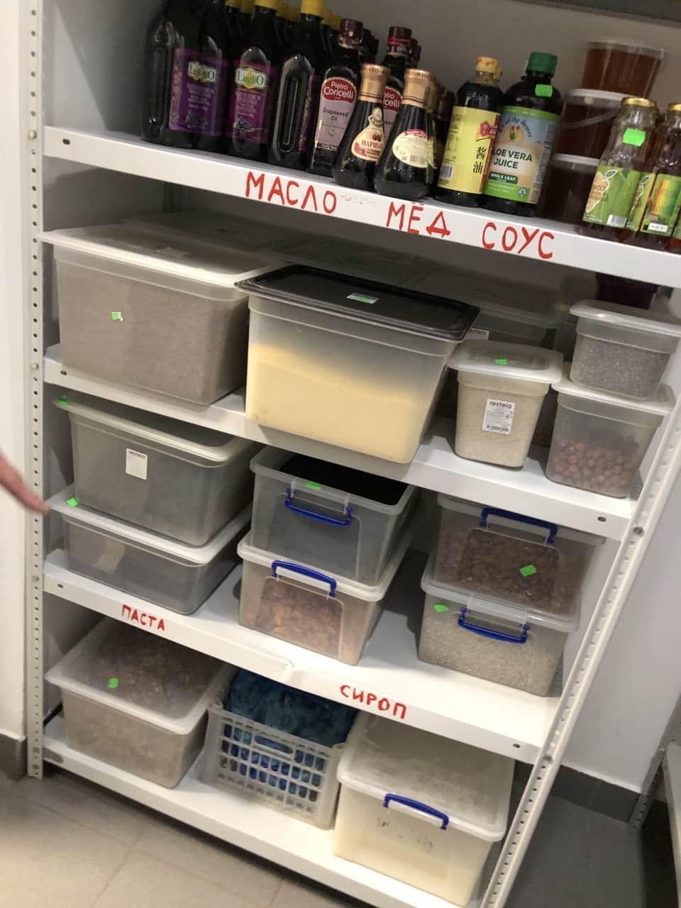 Маркировка продуктов на складе