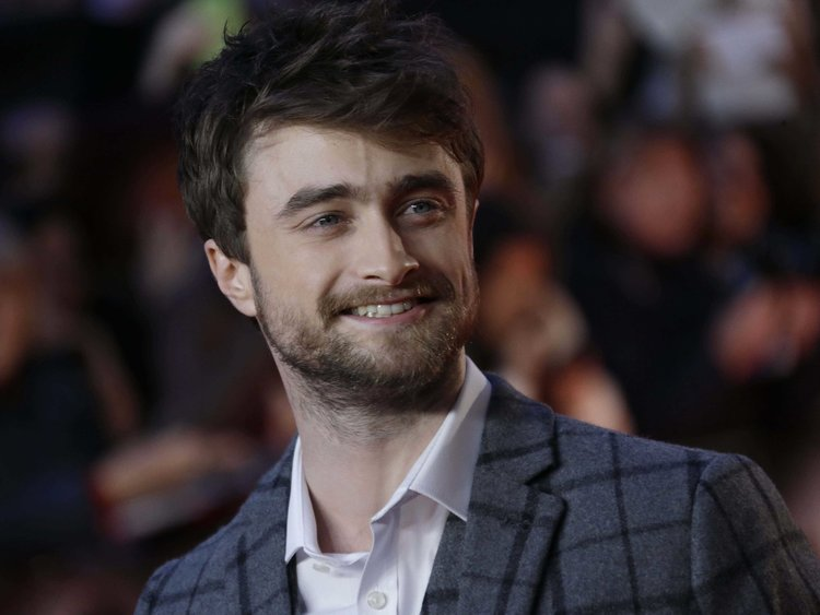 Daniel Radcliffe at a movie premiere.