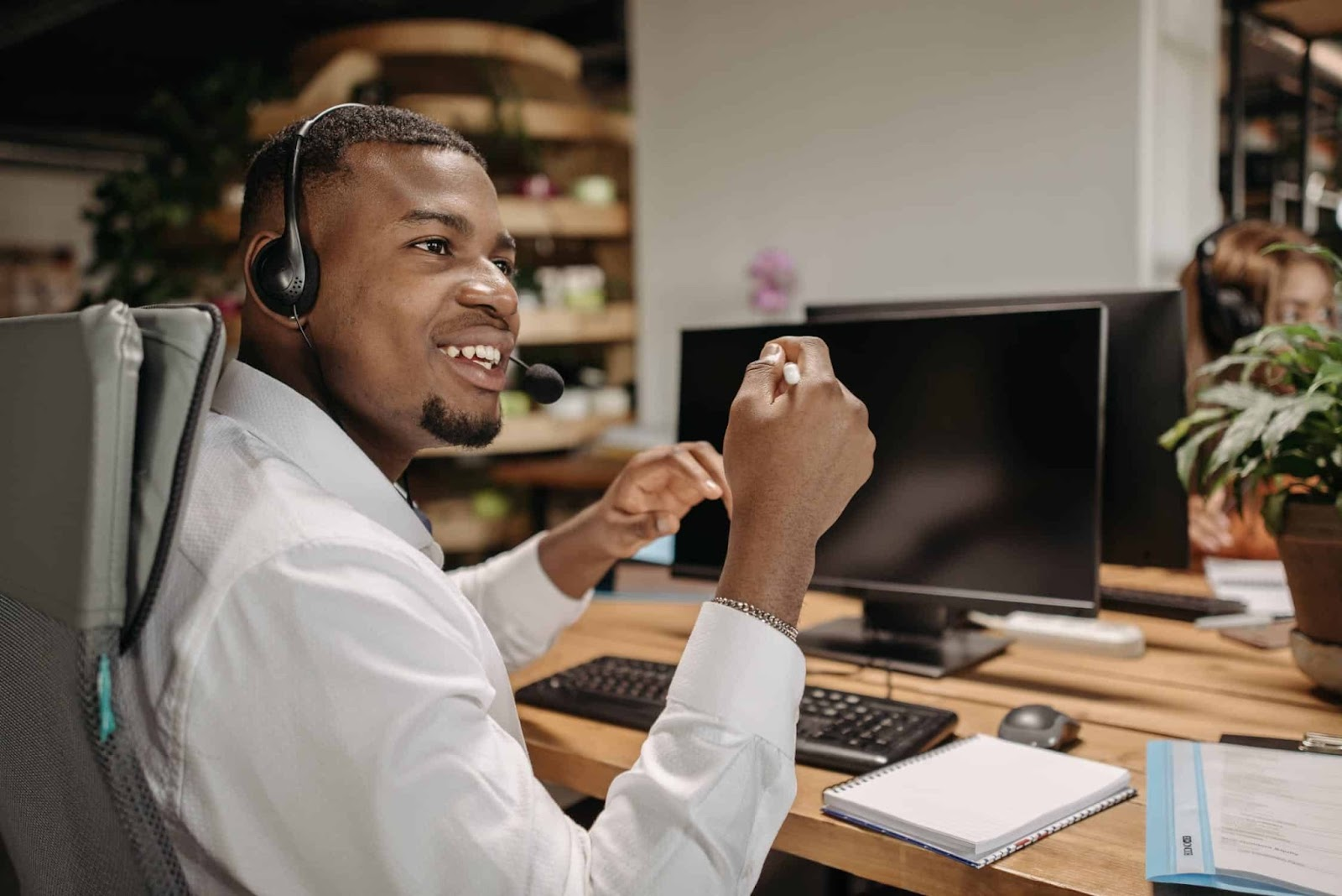 Virtual Receptionist In A Home Office