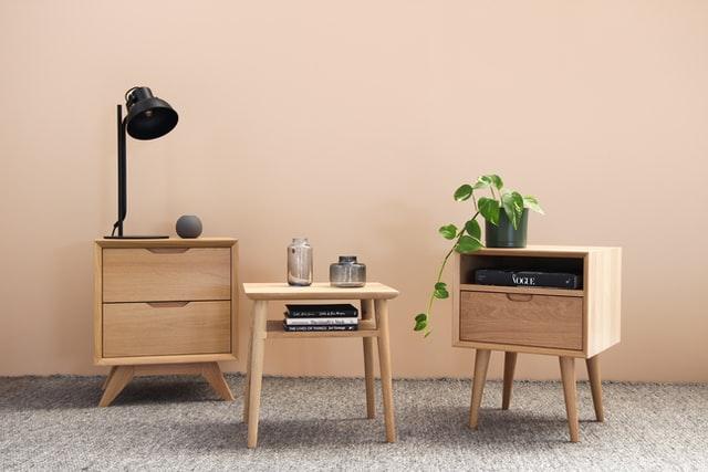 stool, mini cupboard and furniture items