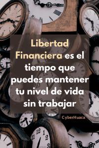 Libertad Financiera es una medida de tiempo