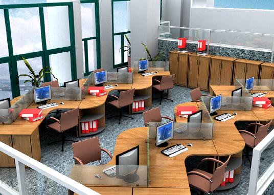 Ý tưởng thiết kế nội thất văn phòng theo đường zic zac