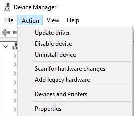 Add legacy hardware Action menu