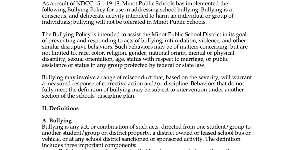 policy proposal bullying Unformatted text preview: con side also believes that there are other ways to treat students who have been caught bullying by showing them a positive role-modelthe pro- side of three strikes and you're out believes that this is a good strategy to keep kids from bullying parents play a major role when their kids are the ones at school, three strikes sounds like the best thing to do.