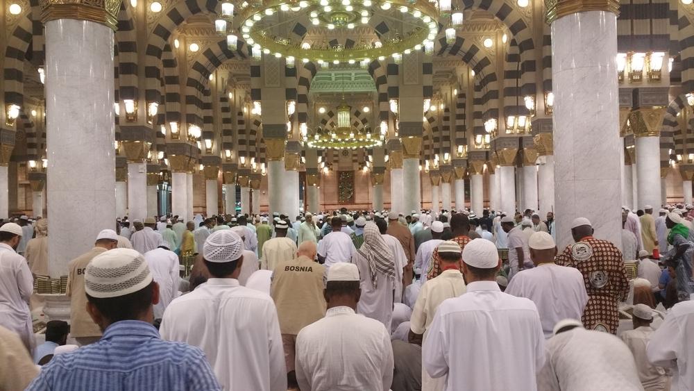 Inside Masjid Nabawi, Prophet's Mosque, Madinah, Saudi Arabia