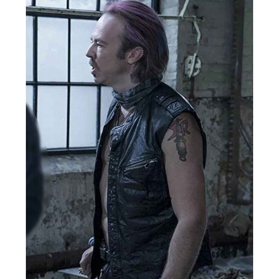 Rebellious leather vest outfit