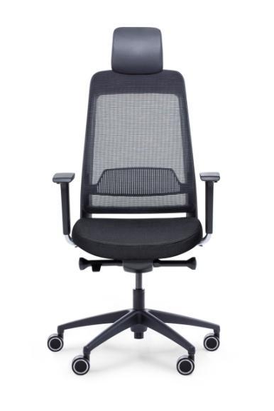 fotel biurowy ergonomiczny czarny Shine EFG 100B