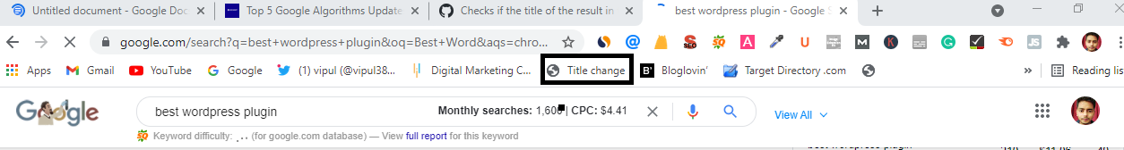 This image shows how you can select title to see the original title tag which Google has rewrite.