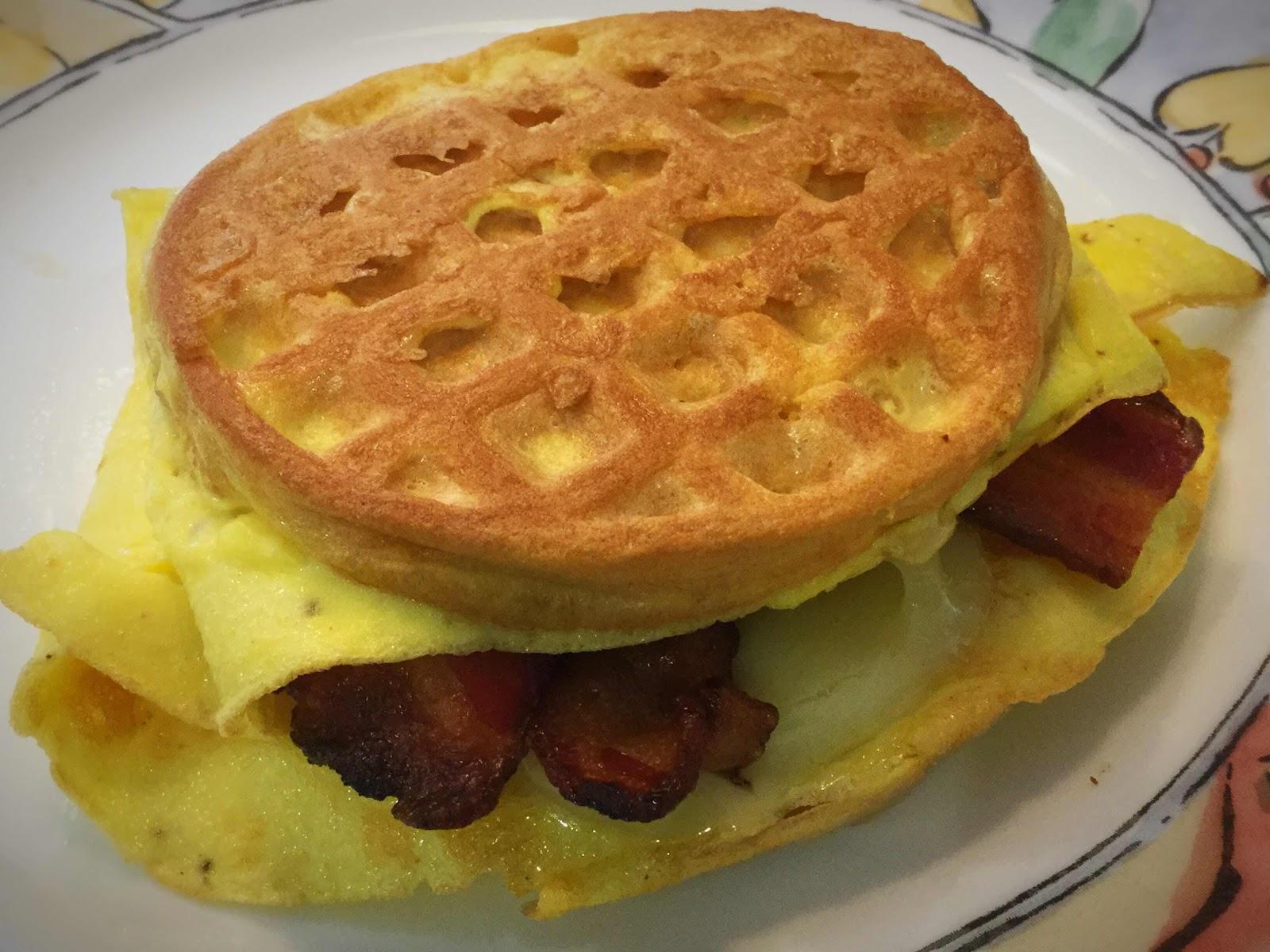 Keto French Toast Chaffle Breakfast Sandwich