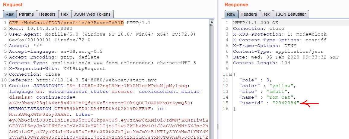 IDOR tutorial: More data returned from the API