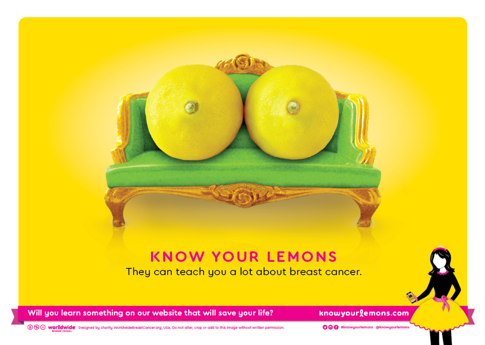 Top Charity Campaign 2017 - Breast Cancer Now - Know your lemons