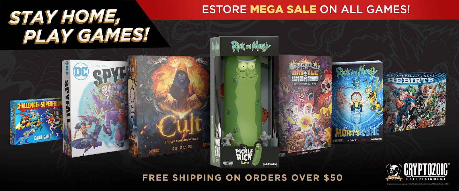 Stay Home, Play Games! Mega Sale of Cryptozoic Tabletop Games