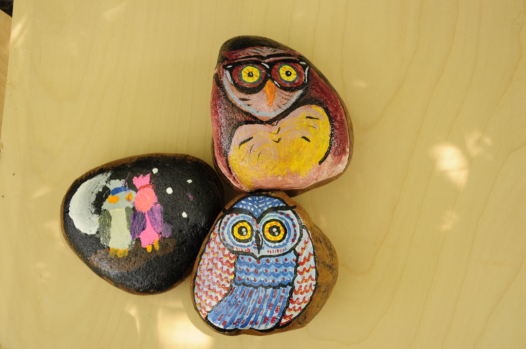 owl rocks | painted rocks to resemble owls | amboo who? | Flickr
