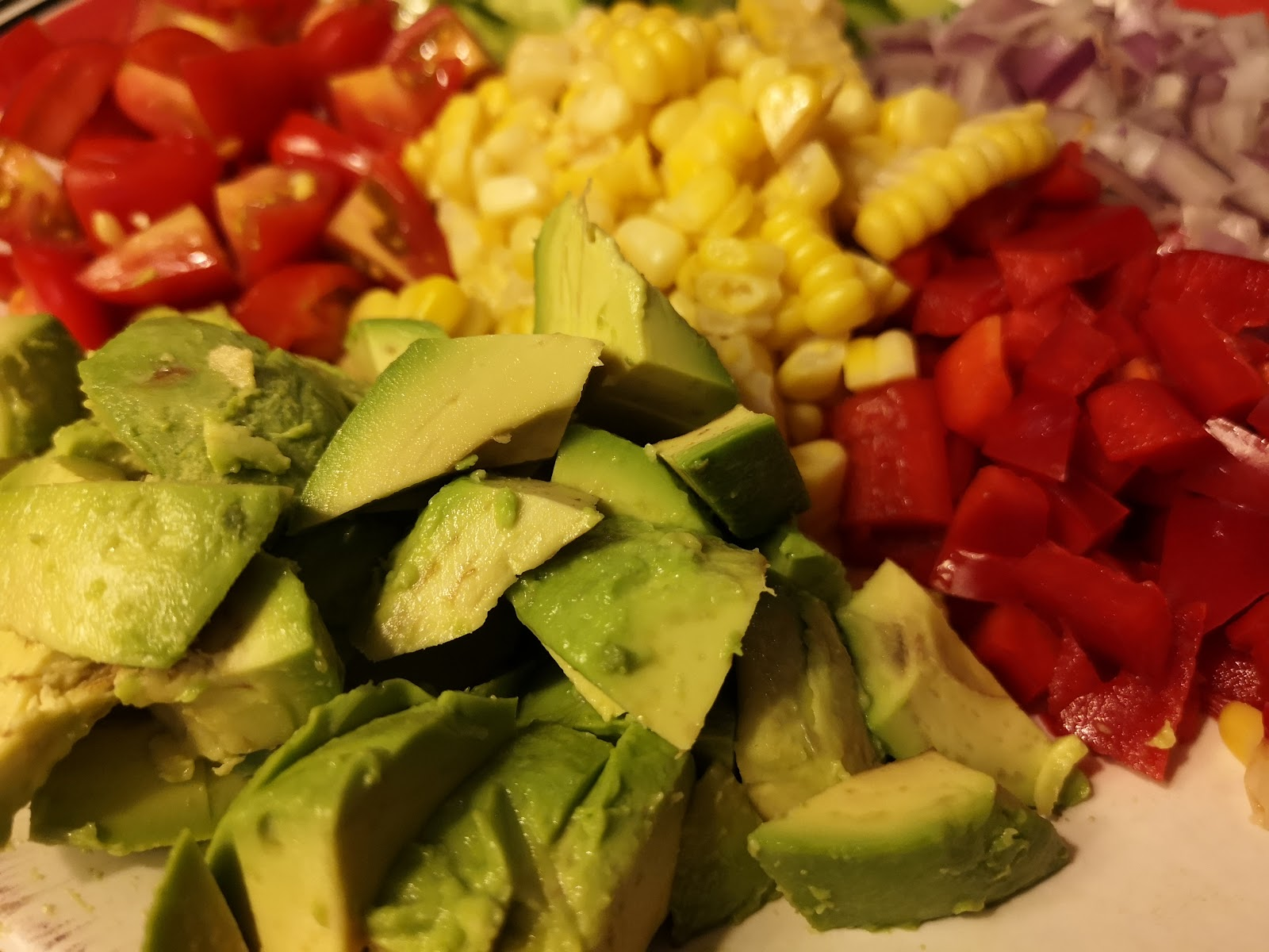 Mexican corn salad, Mexican Taco, Corn, Black Bean and Avocados from Mexico Salad, recipes, keto recipes, low carb recipes, atkind recipes