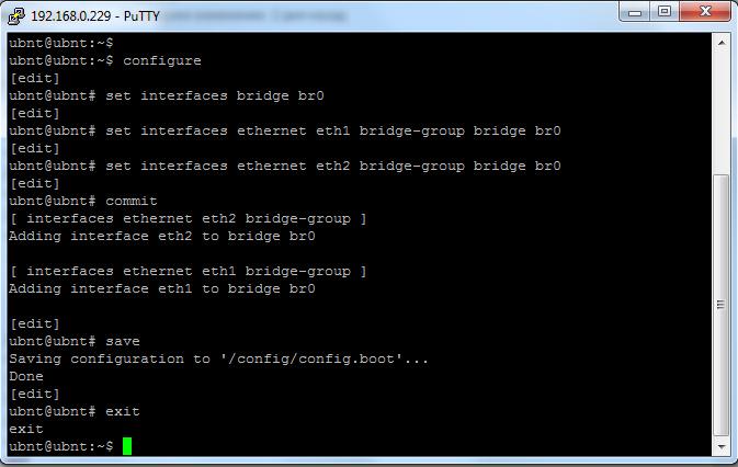 Базовые настройки Ubiquiti EdgeOS: настройка локальной сети LAN