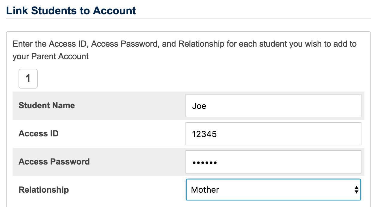 powerschool create account screenshot