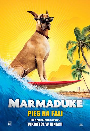 Polski plakat filmu 'Marmaduke - Pies Na Fali'