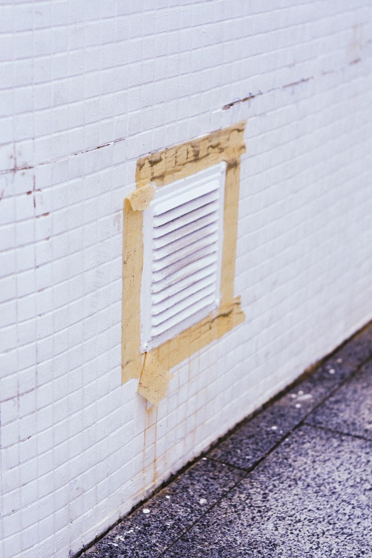 white metal air vent