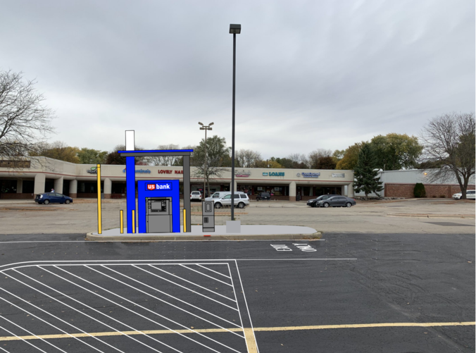 Future location of ATM in Rolling Meadows Mall parking lot