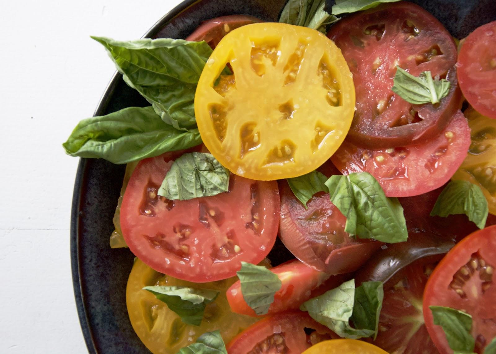 A holistic approach to nutrition can can be as simple as a plate of these beautiful tomatoes.