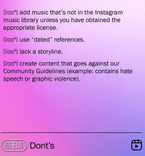 Dicas do Instagram Reels