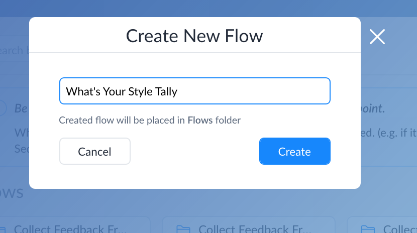 Creating results flow