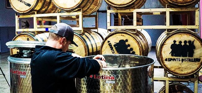 Dawson Working At 4 Spirits Distillery